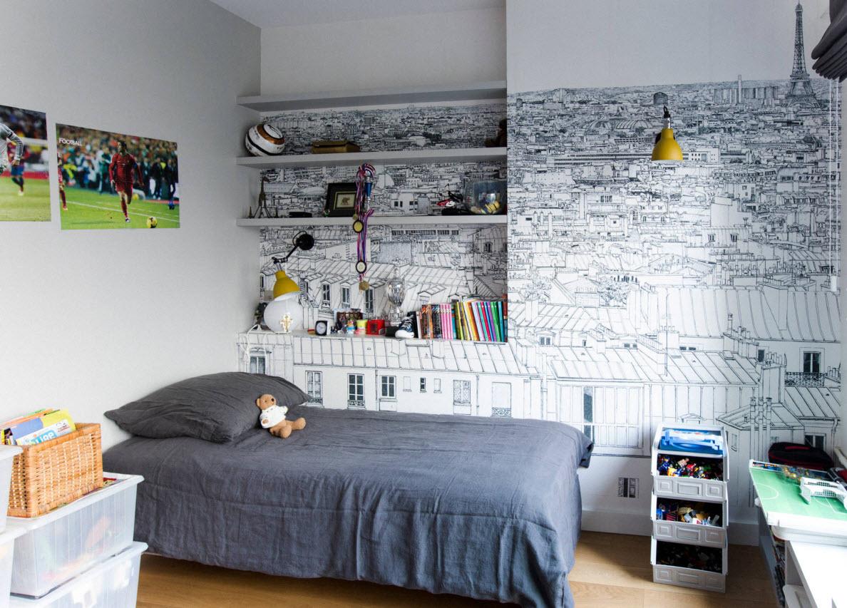 Рисунок на стенах. который можно раскрасить