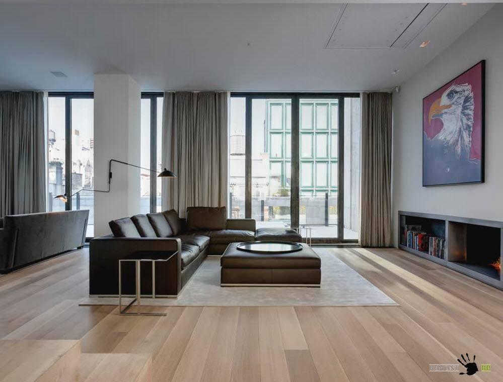 Все оттенки серого в дизайне гостиной