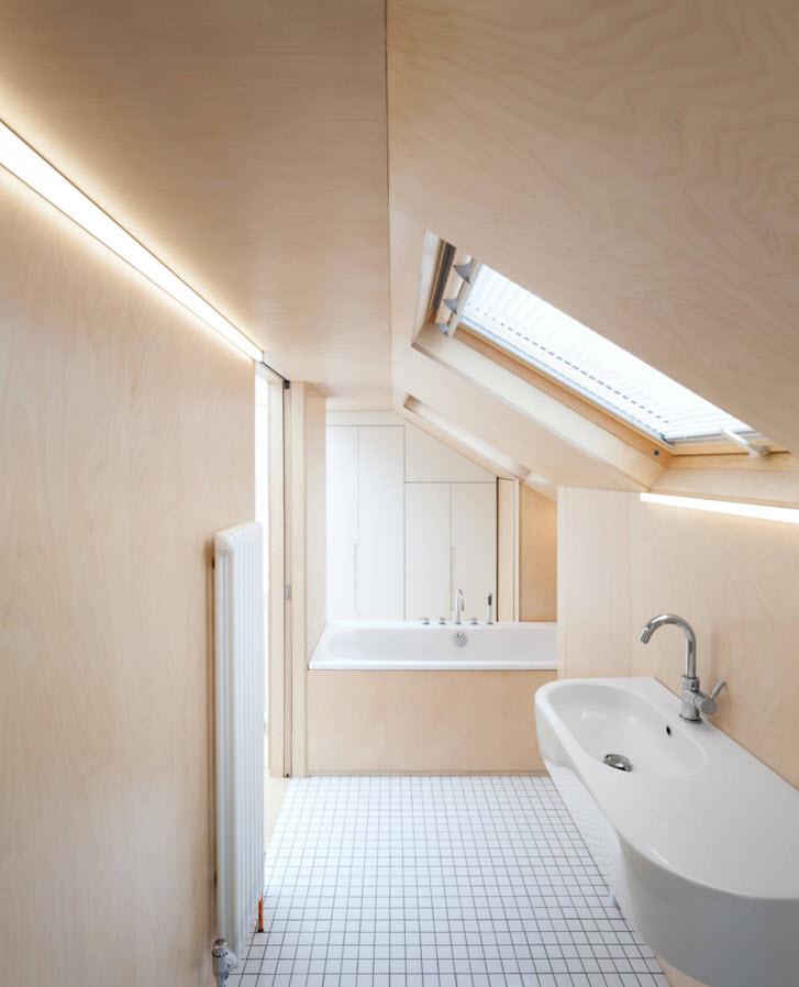 Ванная со сложной архитектурой
