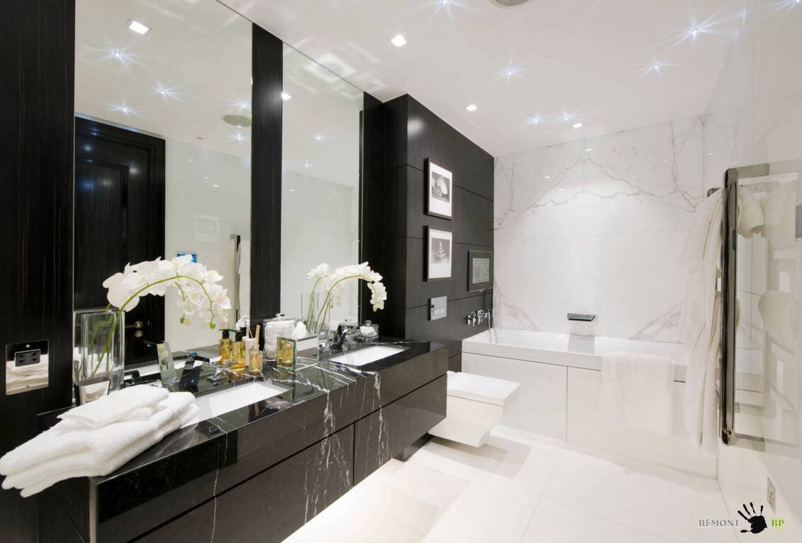 Черно-белый интерьер утилитарного помещения