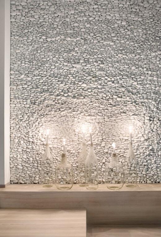 Необычная отделка акцентной стены
