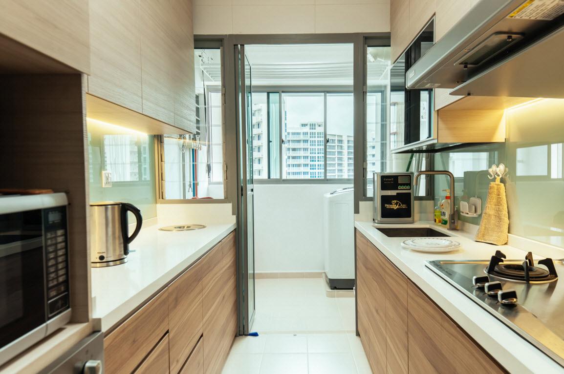 Параллельная планировка в кухне