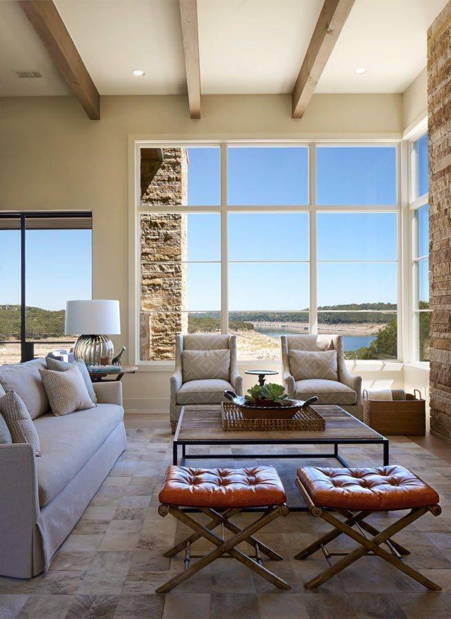 Окна от пола до потолка для гостиной