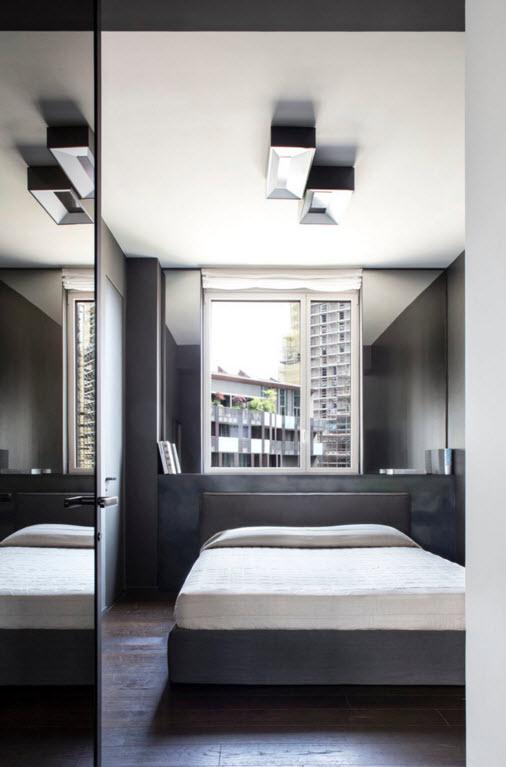 Дизайн спальни в миланской квартире
