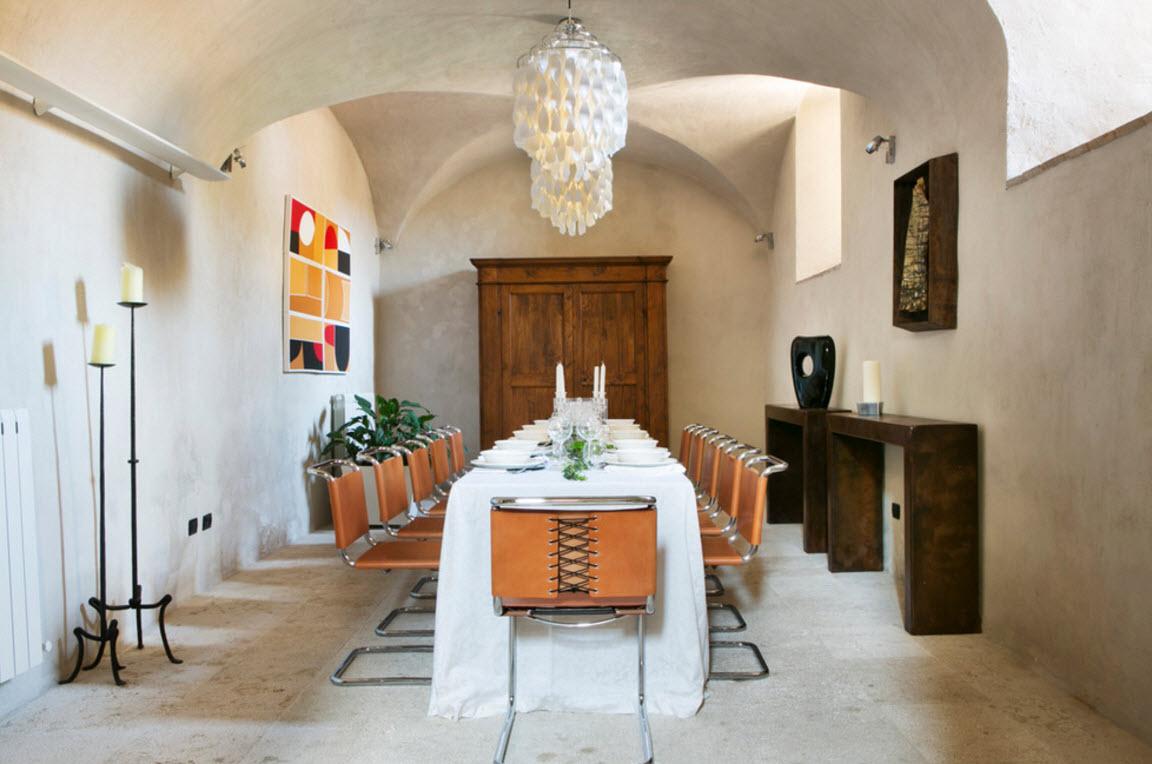 Эклектичный дизайн столовой