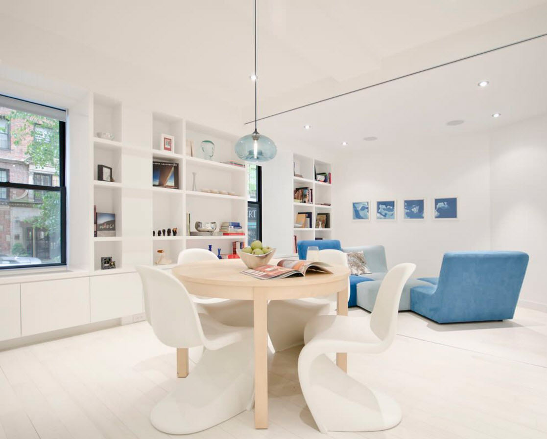 Белые поверхности в гостиной