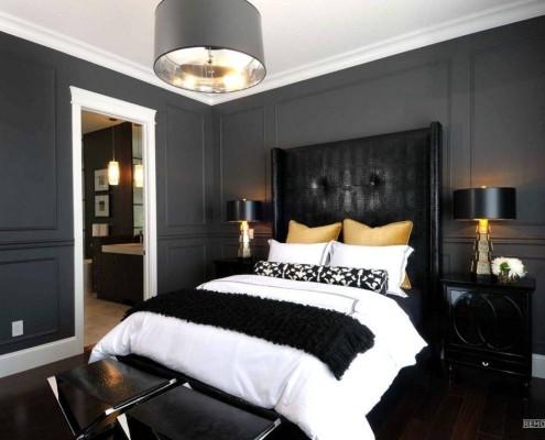 Роскошная черная кровать