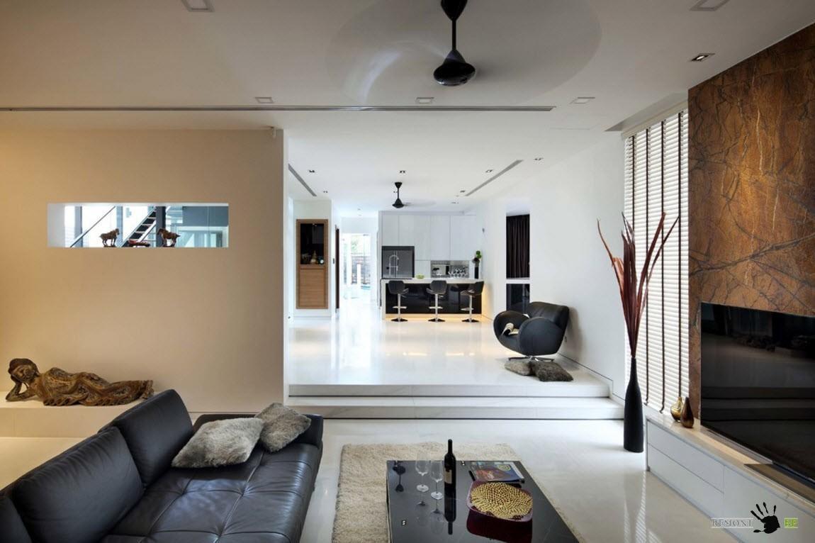 Современная стилистика для гостиной
