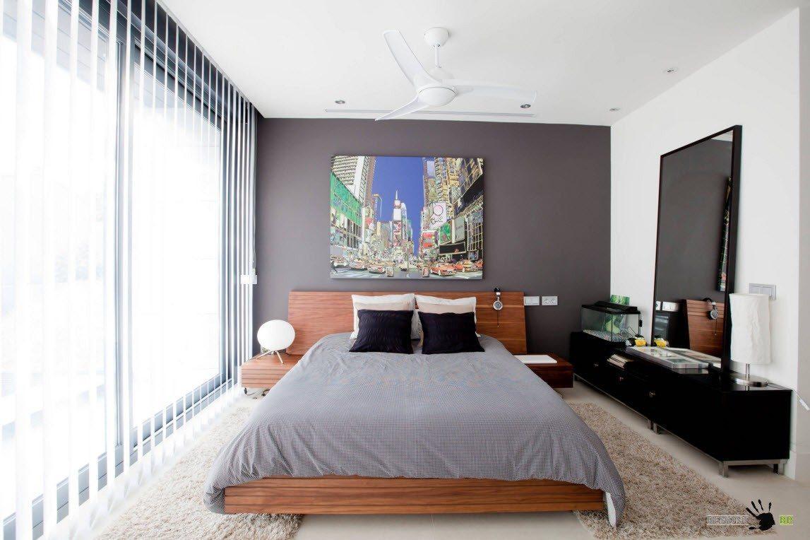 Белоснежные жалюзи для спальни