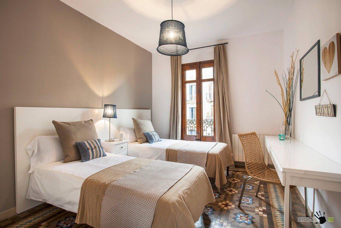 Природные тона для цветовой палитры спальни