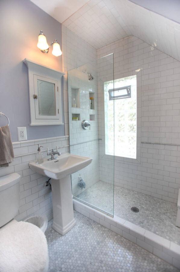 Белоснежные поверхности в ванной комнате