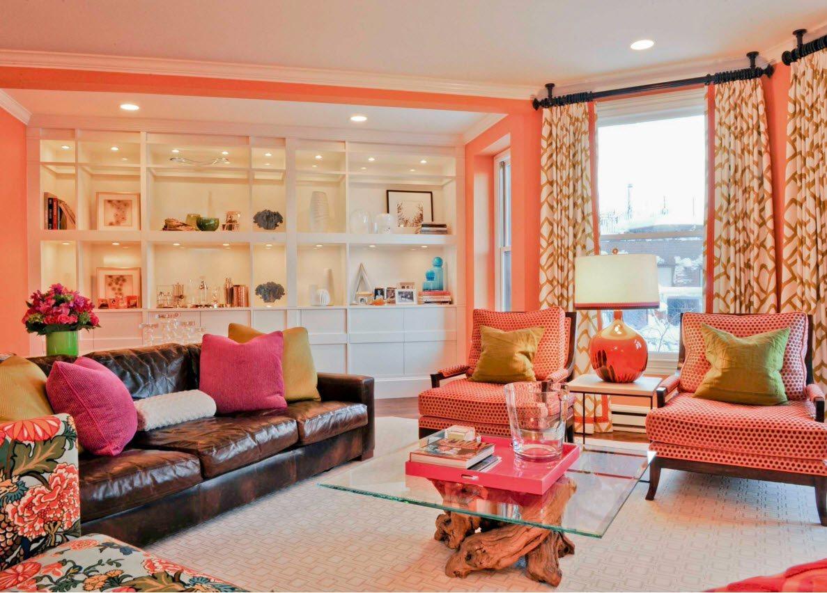 Персиковая гостиная