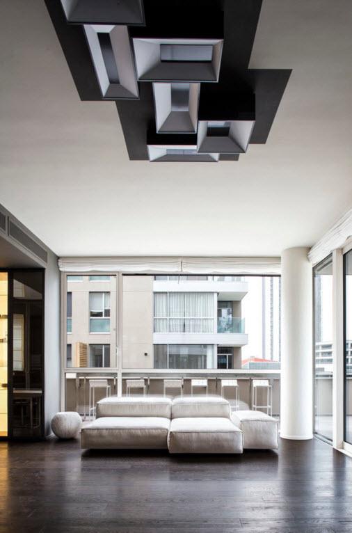 Контрастный дизайн миланской квартиры