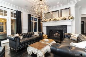 Мебель черного цвета - современный штрих в интерьере