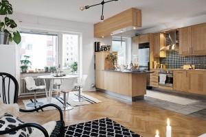 Скандинавский стиль в современной шведской квартире