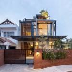 Креативный дизайн-проект дома в Сингапуре