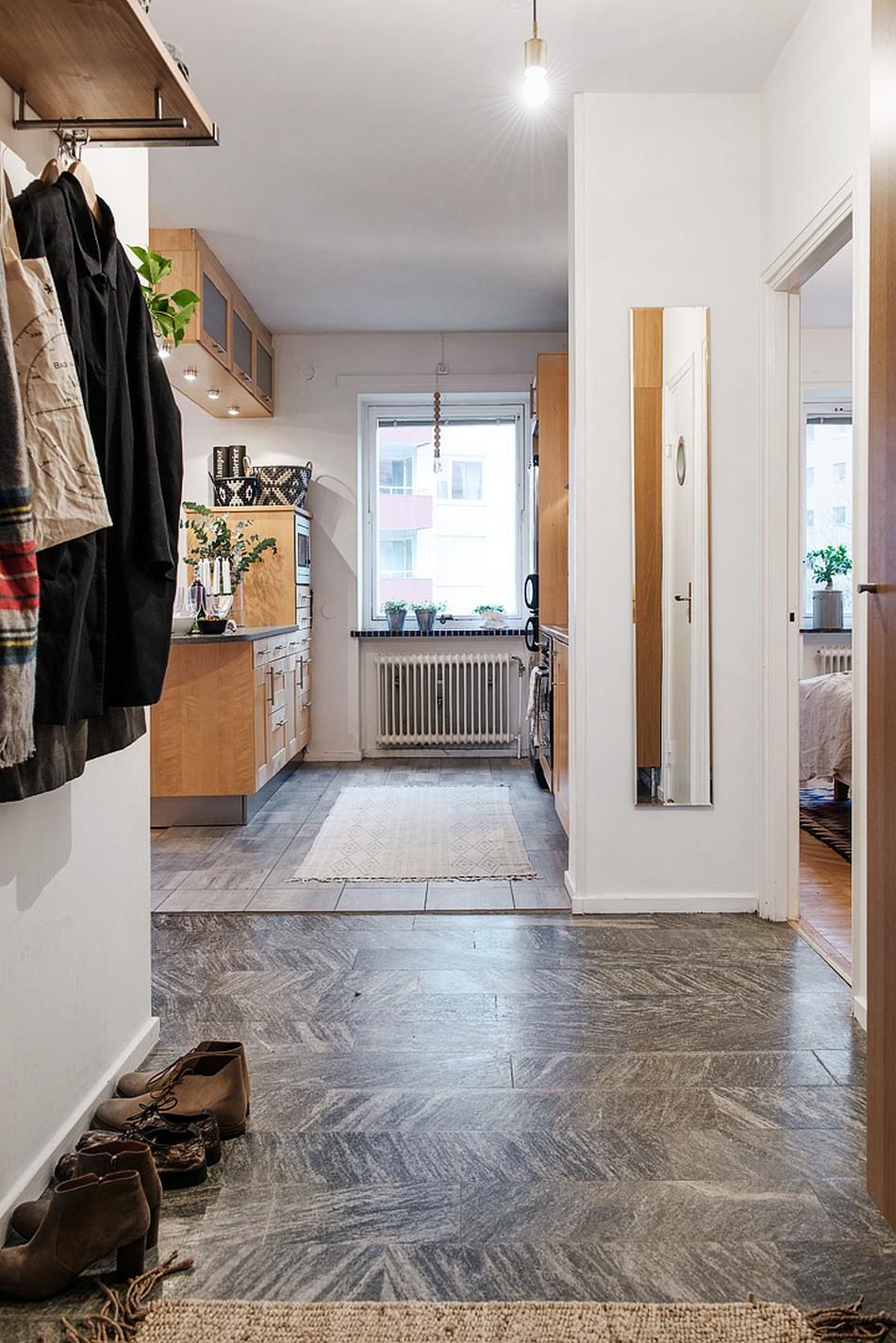 Прихожая в шведской квартире