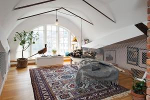 Оригинальный дизайн помещений шведского дома