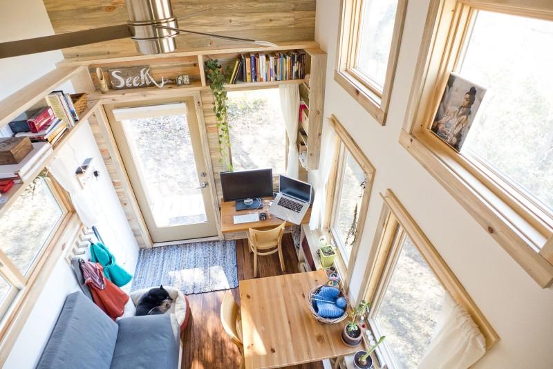 Вид сверху на дизайн американского домика