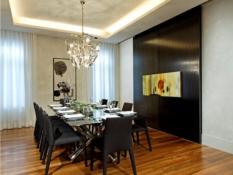Контрастный дизайн столовой