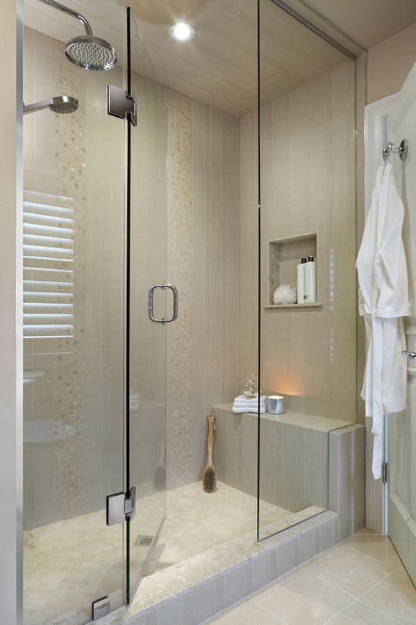 Ванная комната с просторной душевой