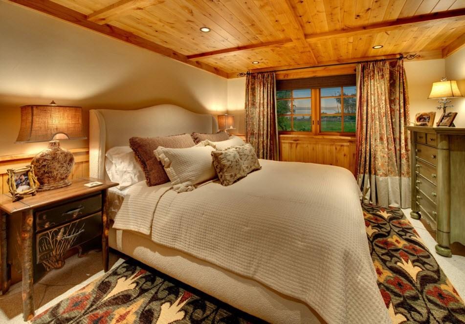 Встроенная подсветка деревянного потолка