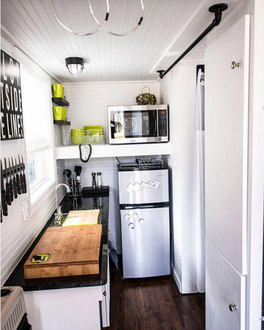 Дизайн очень маленького помещения кухни