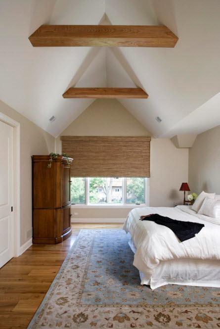 Дизайн спальни в белых тонах