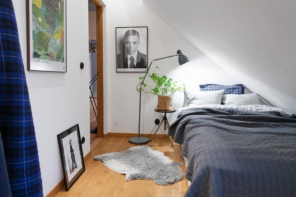 Спальня с непростой геометрией