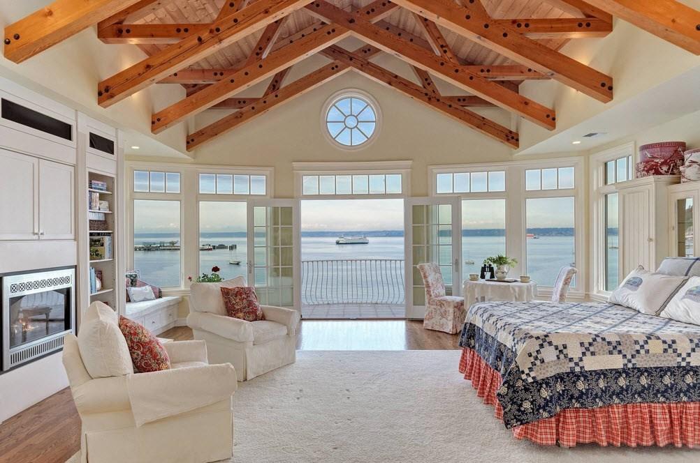 Огромная спальня в морском стиле