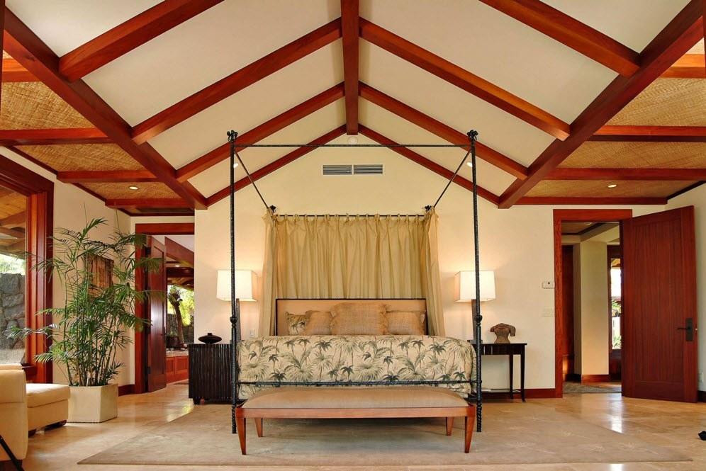 Спальня в тропическом стиле