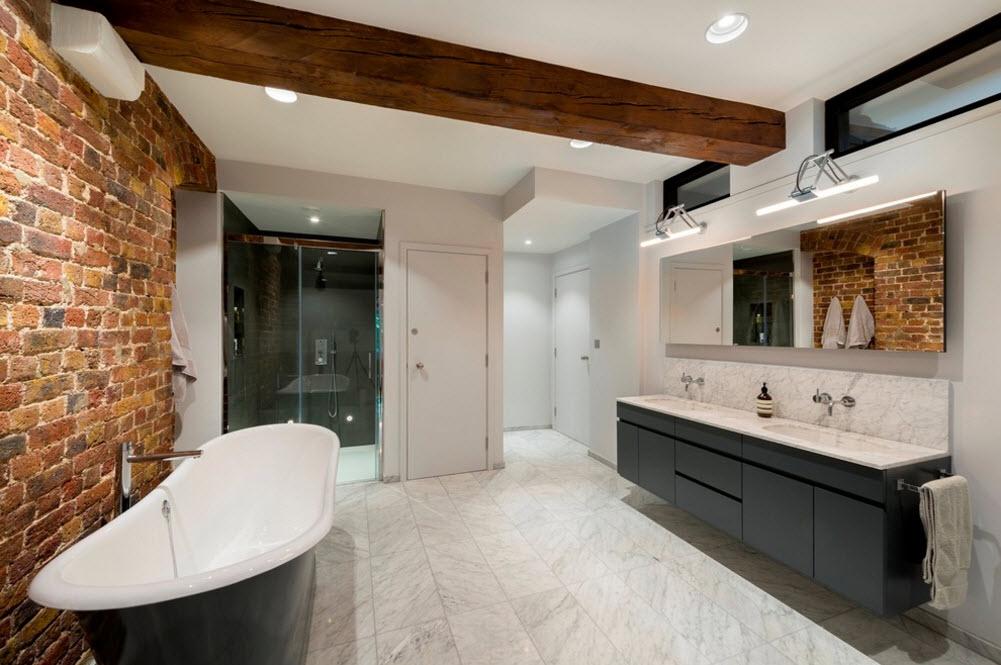 Контрастные цветовые решения ванной комнаты