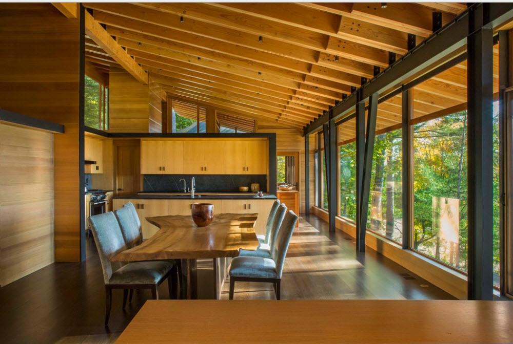 Интерьер столовой и кухонной зоны