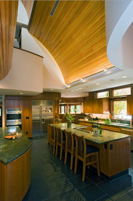 Современное кантри для кухонной зоны