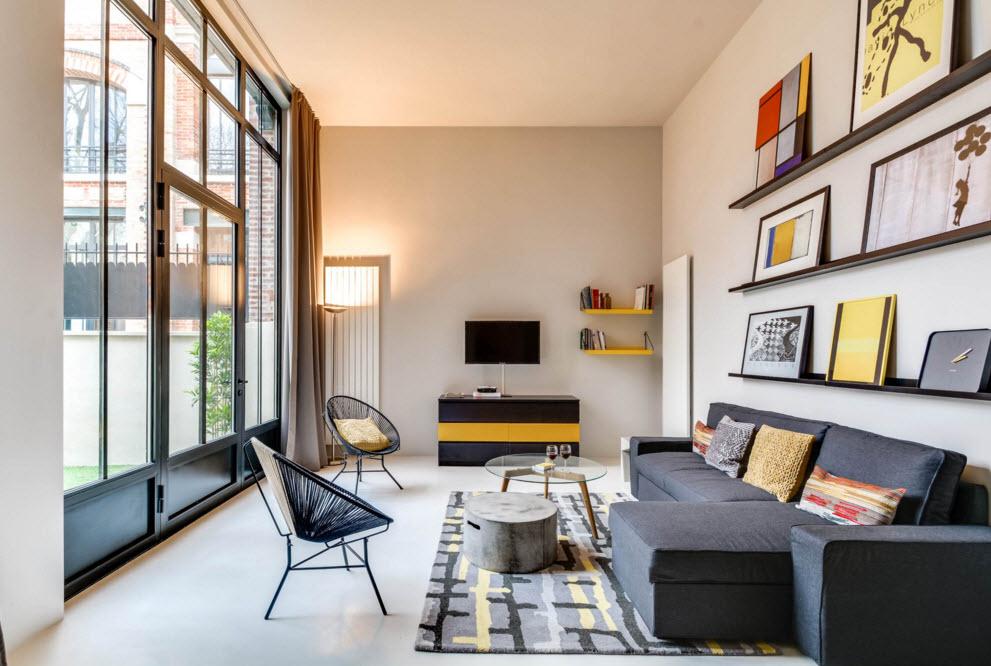 Интерьер практичной и эстетичной гостиной