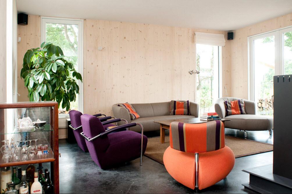 Оригинальная мягкая мебель для гостиной