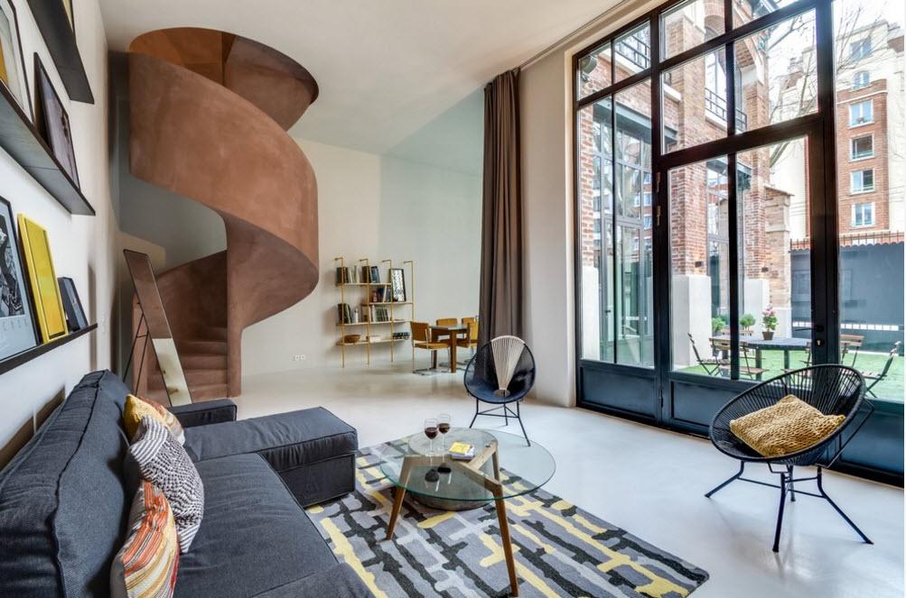 Необычный проект угловой квартиры