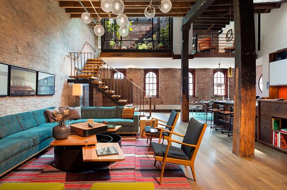 Дизайн гостиной в просторном помещении