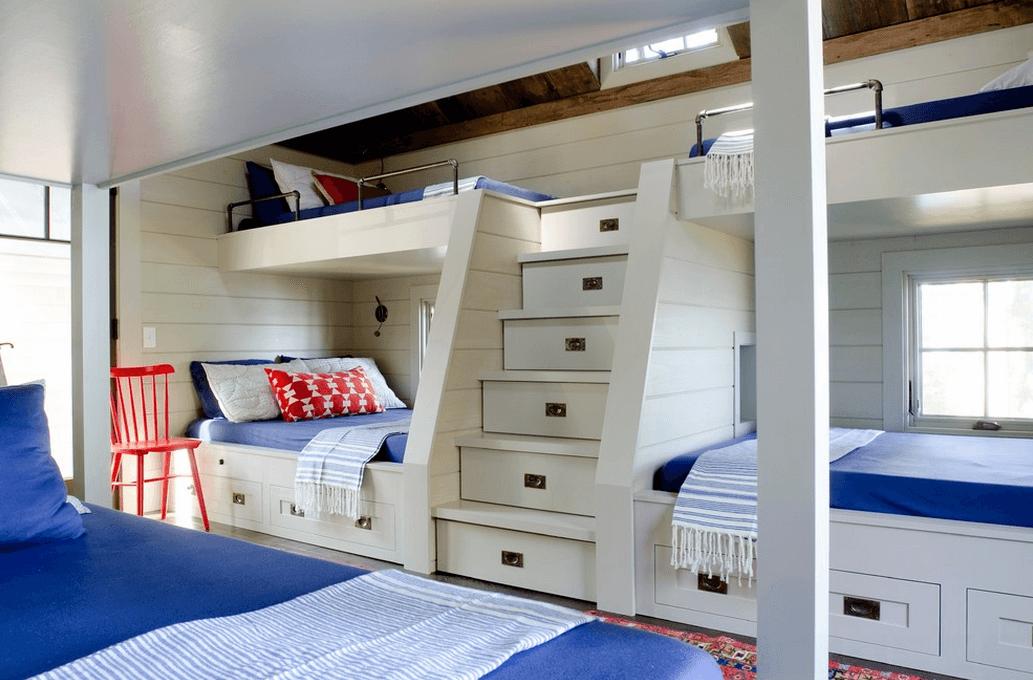 Зберігання в спальні для кількох людей
