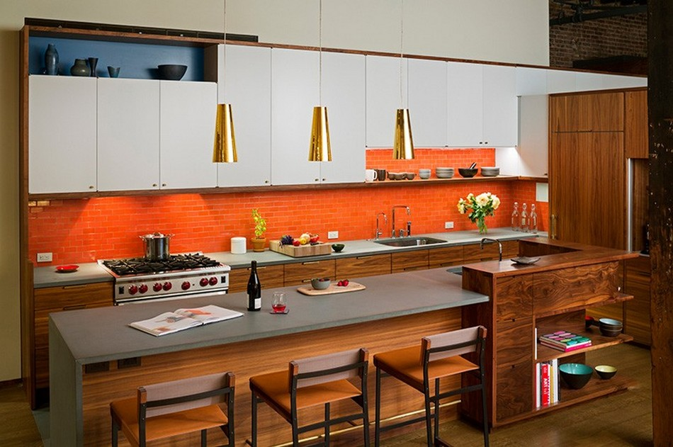 Интерьер кухонного пространства
