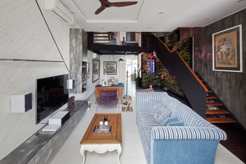 Необычный интерьер гостиной