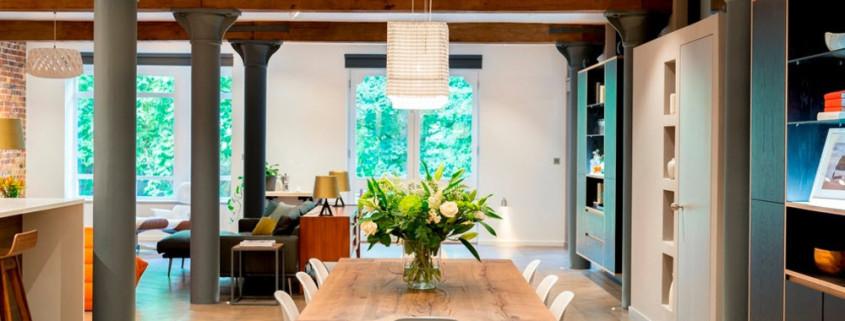 Интерьер с индустриальными мотивами в лондонской квартире