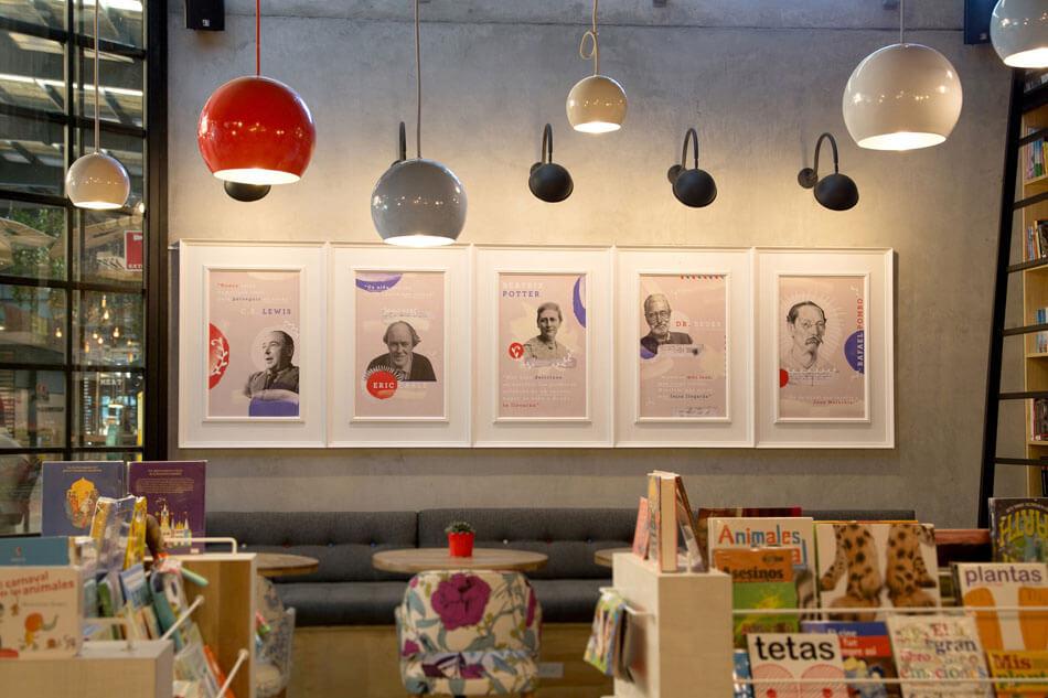 Оригинальный дизайн кафе-магазина