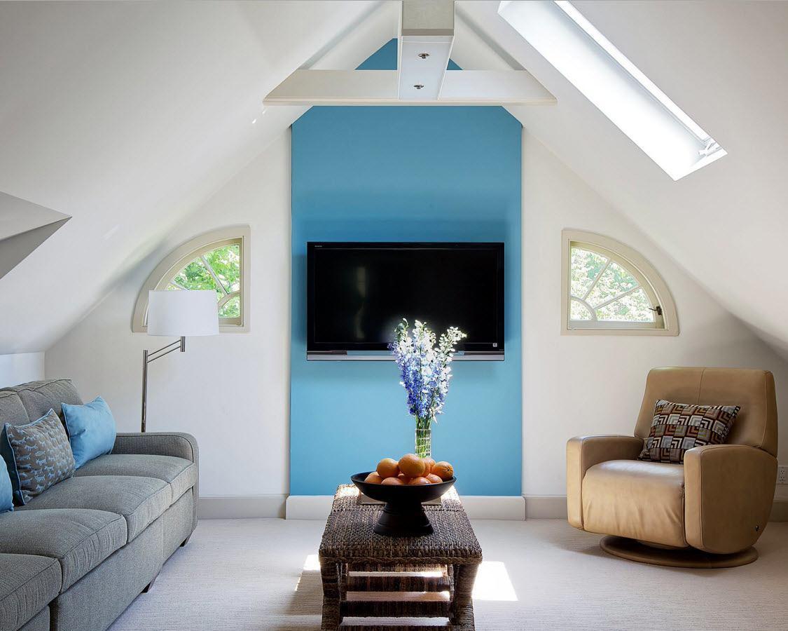 Свежесть и легкость в дизайне гостиной