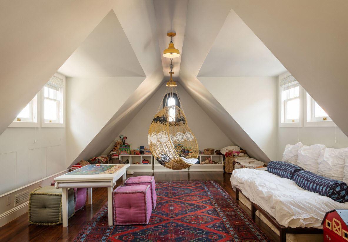 Детская спальня с зоной для игр и занятий
