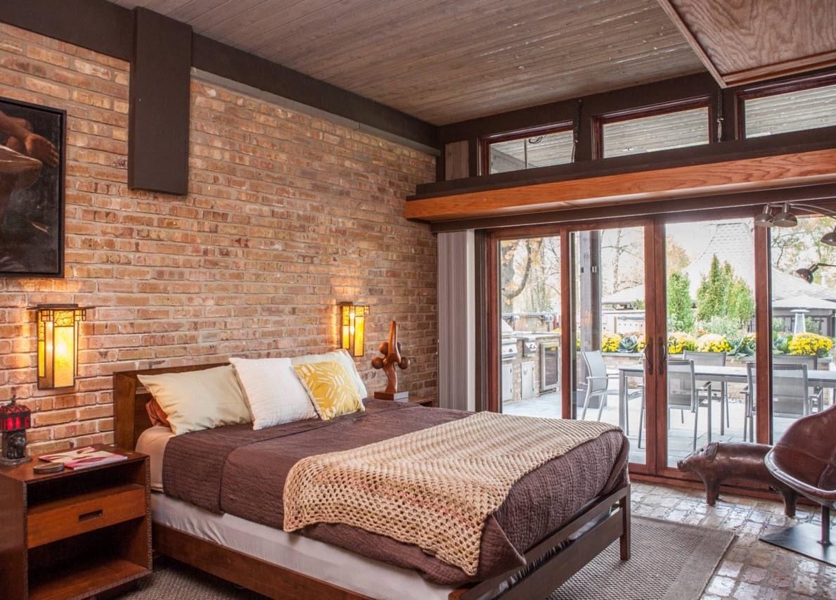 Рыжие оттенки в дизайне спальни