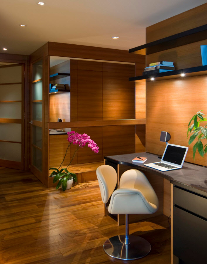 Деревянная отделка и меблировка кабинета