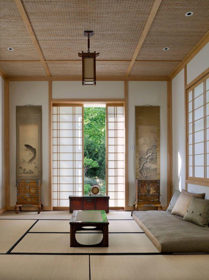 Японский стиль для гостиной