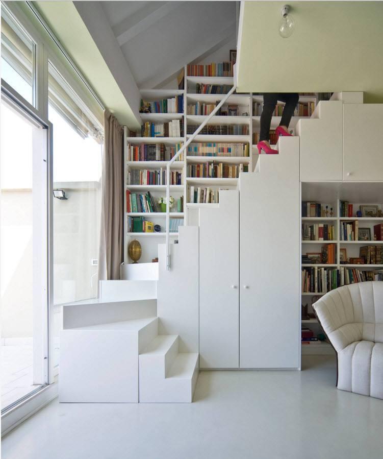 Мебельный ансамбль под лестницей
