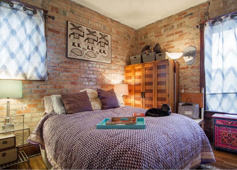 Необычное оформление спальни